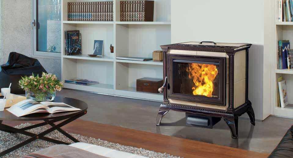 modern stove fireplace